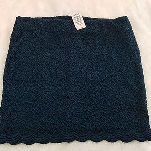 NWT! Torrid size 1 teal lace mini skirt